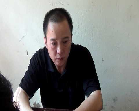 Đối tượng Nguyễn Thanh Sơn tại cơ quan điều tra