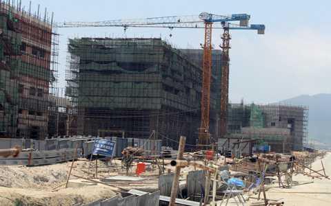 Khu lò cao tại Formosa, hạng mục cần tới hàng nghìn lao động Trung Quốc làm việc. Ảnh: Duy Tuấn.