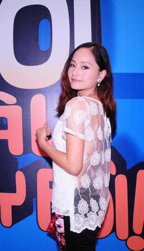 Lan Phương diện áo ren táo bạo.