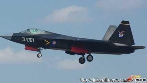 Mẫu máy bay J-31 thế hệ thứ 5 của Trung Quốc đang được thử nghiệm