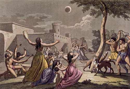 Người Inca cổ cho rằng nguyệt thực là hiện tượng bí ẩn xảy ra do Mặt trăng bị một con báo đốm tấn công.
