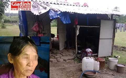 Túp lều rách nát của mẹ con bà Lộc. Người phụ nữ một đời bị chồng bạo hành tình dục (ảnh nhỏ)