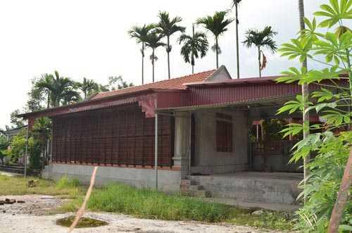 Nhà gỗ tiền tỷ của đại gia Thủy Triêu, Thủy Nguyên, Hải Phòng.