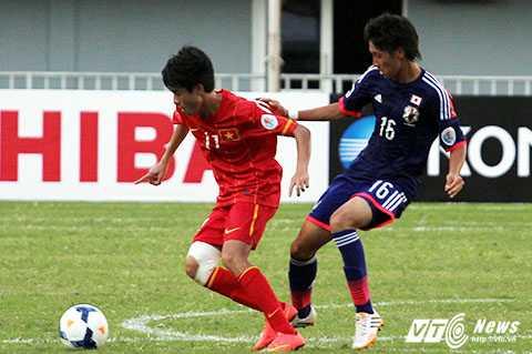 Phan Thanh Hậu (11) là học viên khóa II của học viện HAGL Arsenal JMG                (Ảnh: Nhạc Dương)