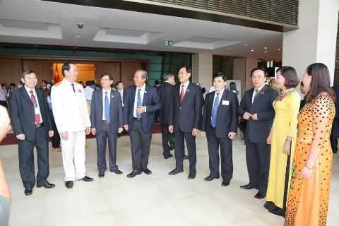 Đại tướng Trần Đại Quang bên lề kỳ họp thứ 8, quốc hội khóa XII.