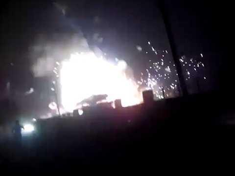 Vụ cháy xảy ra ở khu chợ bán pháo ở thành phố Faridabad