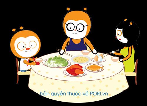 Nhiều trẻ em không biết cách ứng xử căn bản ngay trên bàn ăn.