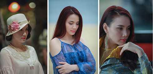 Một mình đóng nhiều vai, Trang Nhung phải lột tả những cảm xúc, tính cách khác nhau tùy vào từng nhân vật