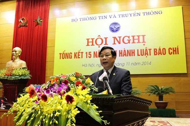 Bộ trưởng Nguyễn Bắc Son phát biểu tại hội nghị