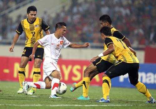Tuyển Malaysia mang đội hình mạnh sang Việt Nam (Ảnh: Quang Minh)