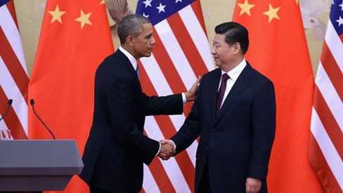 Tổng thống Barack Obama và Chủ tịch Tập Cận Bình gặp nhau tại Hội nghị APEC Bắc Kinh 2014