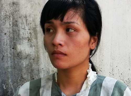 Cô giáo 'rởm' Trần Thị Hằng tại cơ quan điều tra