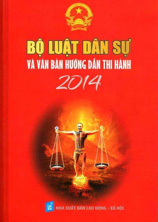 Bìa sách Bộ luật dân sự và văn bản hướng dẫn thi hành 2014 trên một số trang bán sách trực tuyến.