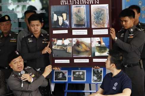 Các bộ phận cơ thể người bị cảnh sát Thái Lan thu giữ ở sân bay
