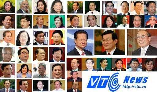 50 lãnh đạo chủ chốt được Quốc hội lấy phiếu tín nhiệm lần 2 (Ảnh Quang Tùng)