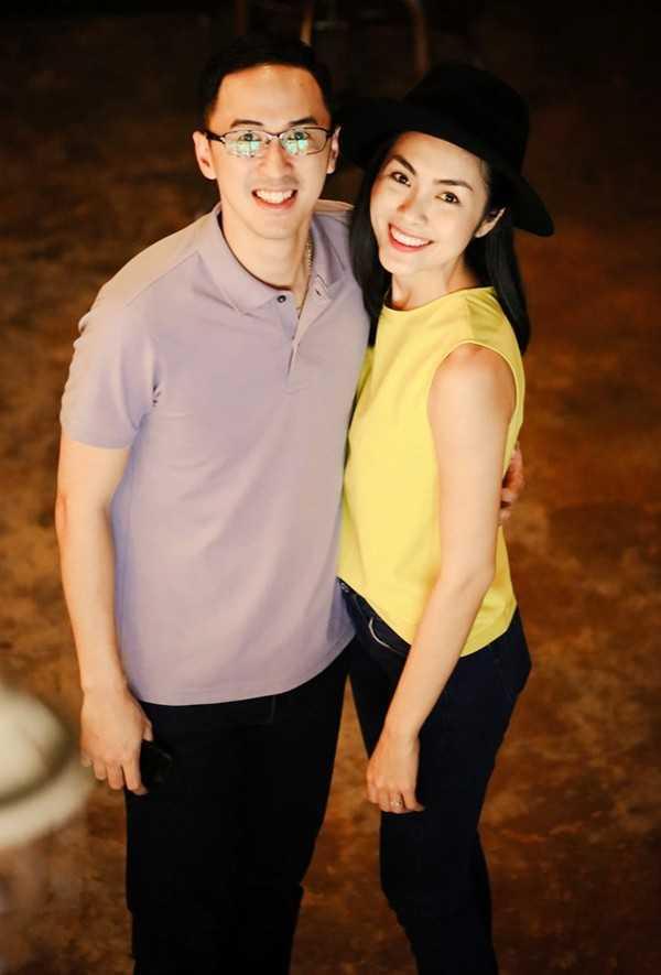 Vợ chồng Tăng Thanh Hà luôn đồng hành cùng nhau trong mọi hoạt động.