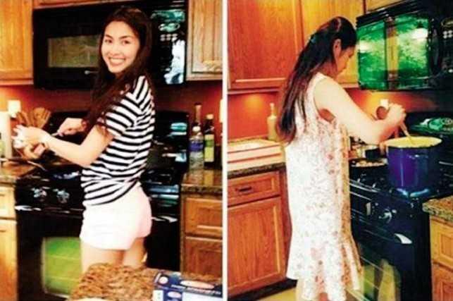 Dù bận rộn với công việc, Hà Tăng vẫn vào bếp làm những món chồng thích.