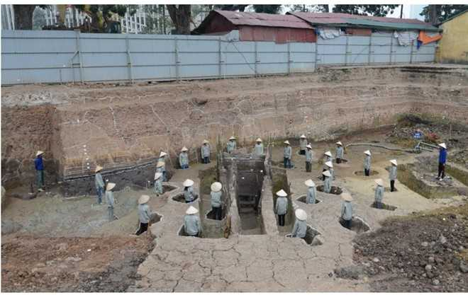 Viện Hàn lâm Khoa học Xã hội Việt Nam đề nghị bảo tồn nguyên trạng di tích tế lễ Trời - Đất của các Hoàng đế đầu thời Lý. Ảnh: Viện Hàn lâm KHXH VN.