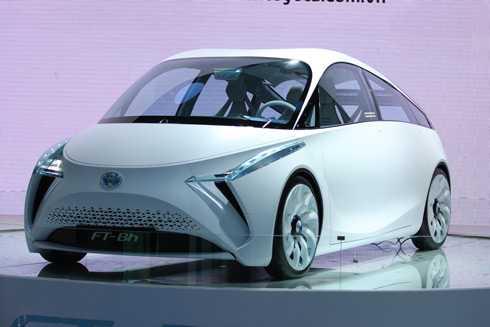 Concept trong gian hàng Toyota.