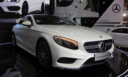 Mercedes S-class coupe.