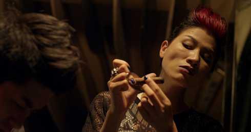 Trang Trần vào vai Mỹ Chột trong phim Hương Ga