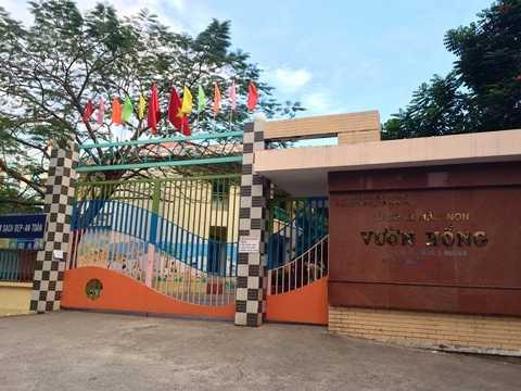 Trường mầm non Vườn Hồng (Q.8) được cho là nơi chăm sóc bé trai tên Bo.                Ảnh: Phan Cường