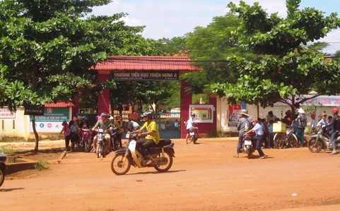 Trường Tiểu học Thiện Hưng A nơi xảy ra vụ hành hung phóng viên