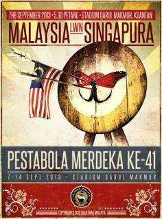 Poster cổ động trước trận Singapore - Malaysia của Ultras Malaysia