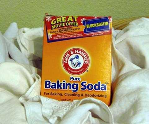 Bột baking soda có tác dụng tương tự như giấm ăn