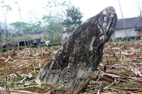 Dấu tích một ngôi mộ đá trong vườn nhà dân