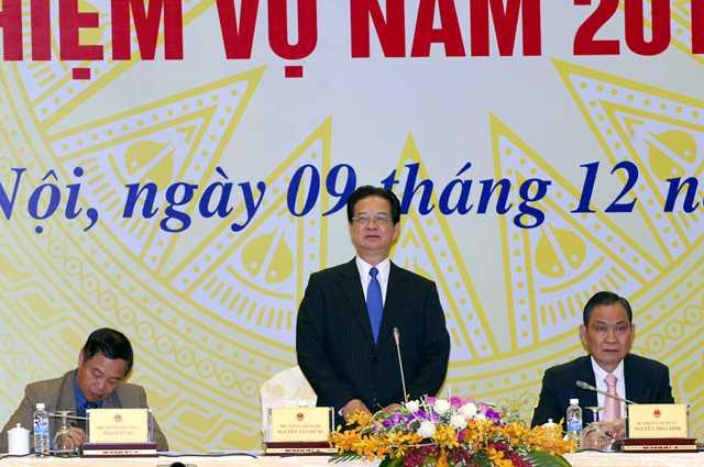 Thủ tướng Nguyễn Tấn Dũng phát biểu chỉ đạo hội nghị