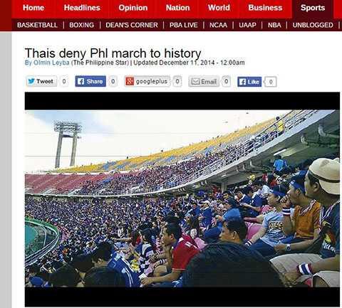 Thái Lan từ chối cơ hội làm nên lịch sử của Philippines
