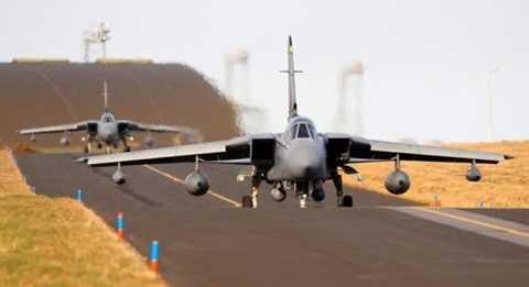 Máy bay chiến đấu của Anh ở miền Bắc Scotland