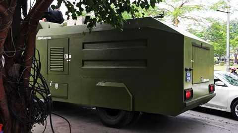 Xe được trang bị hệ thống chiến đấu kiểm soát bạo động nhiều tùy chọn