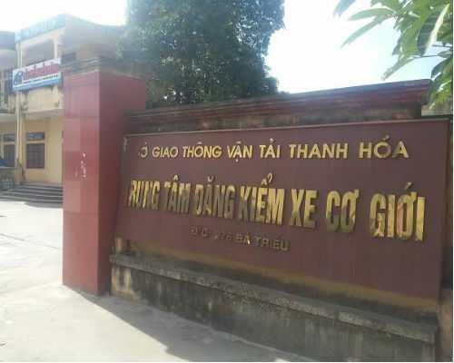 Trung tâm đăng kiểm xe cơ giới Thanh Hóa.