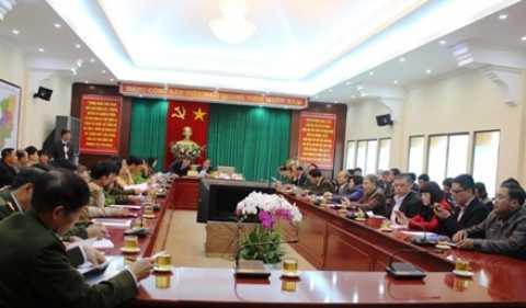 Quang cảnh buổi họp báo rút kinh nghiệm sau vụ sập hầm thủy điện Đạ Dâng do lãnh đạo tỉnh Lâm Đồng chủ trì