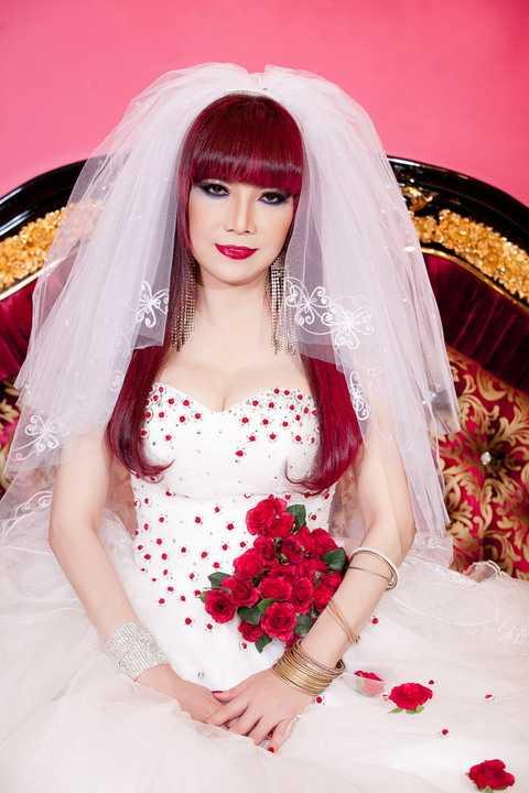 Danh ca Bảo Yến vừa hé lộ những bức hình với hình ảnh cô dâu cô đơn khiến nhiều khán giả tò mò. Thực ra, đây là ình ảnh trong CD mới của nữ danh ca cũng do chính tay Mr Đàm lên ý tưởng.