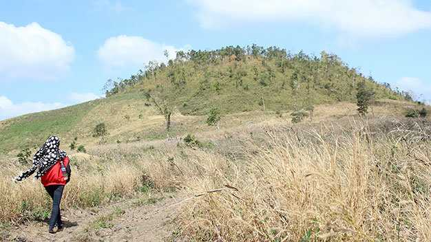 Miệng núi lửa Chư Pluk, buôn Choah, huyện Krông Nô, tỉnh Đắk Nông - Ảnh: Hà Bình