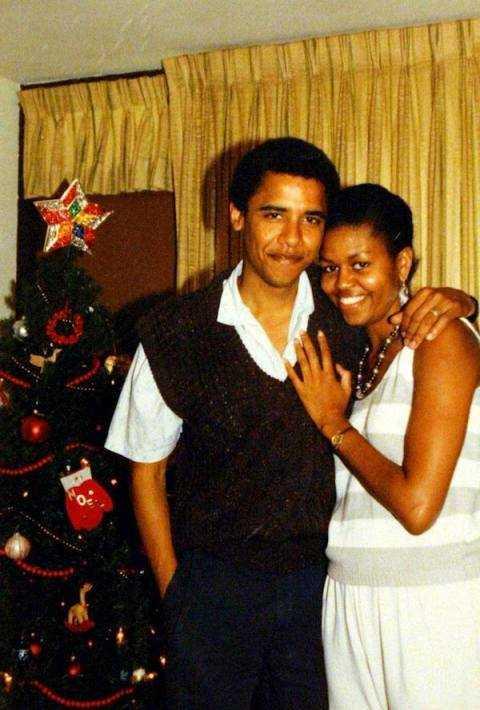 Hình ảnh thời học sinh của hai vợ chồng Tổng thống Mỹ, Barack Obama