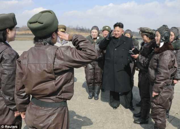 Các nữ phi công của quân đội Triều Tiên