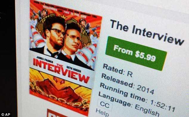 Phim hài The Interview được bán trên Youtube với giá 5.99 USD