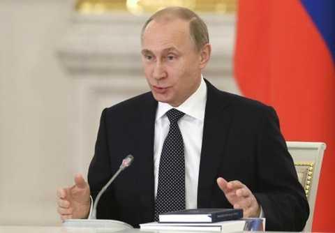 Tổng thống Nga Vladimir Putin tại Điện Kremlin ở Moscow, ngày 24/12 vừa qua. (Nguồn: Reuters)