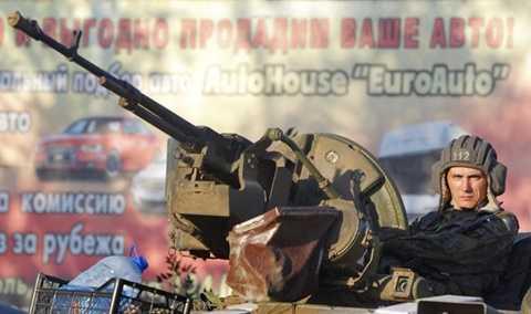 Xe bọc thép của quân đội Ukraine tham gia chiến dịch ở miền Đông