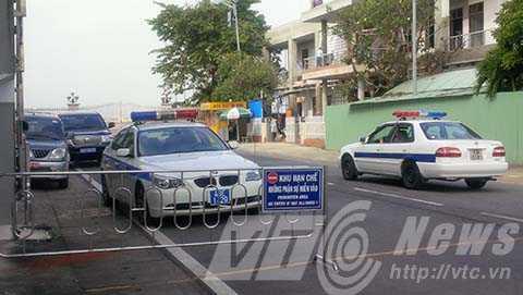 Tại sân bay Đà Nẵng đã diễn ra một cuộc họp kín về công tác an ninh đón ông Nguyễn Bá Thanh.