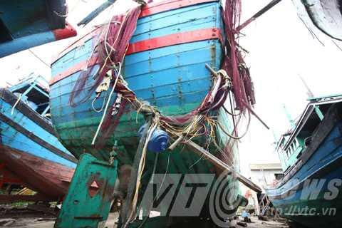 Dấu tích được giữ nguyên vẹn từ khi con tàu được đưa lên bờ