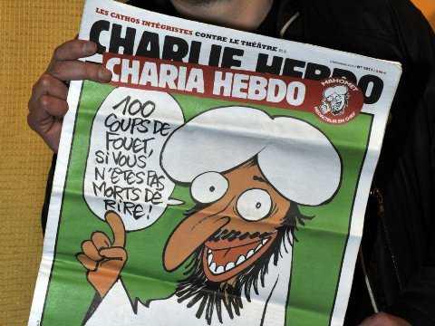 Một trong những hình ảnh châm biếm của Charlie Hebdo - Nguồn Business Insider