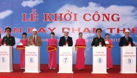 Lễ khởi công xây dựng sân bay Phan Thiết. Ảnh: VGP/Nguyên Linh