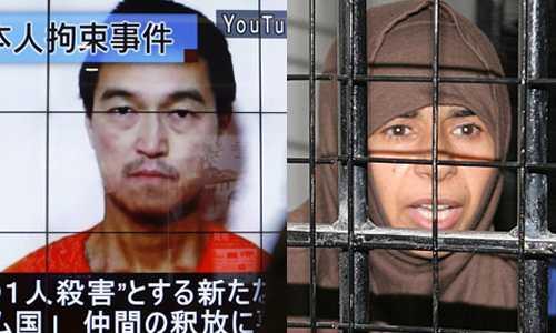 IS đòi trao đổi tù nhân, đổi Goto lấy nữ chiến binh thánh chiến