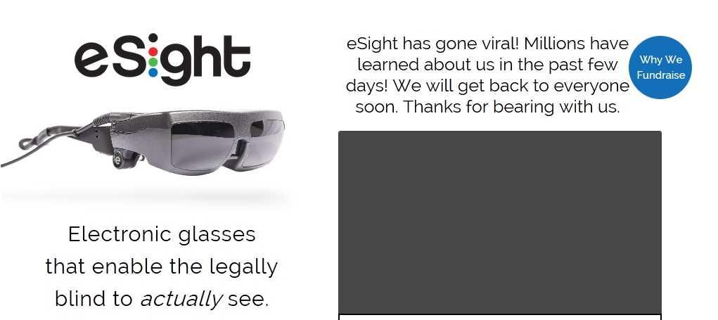 Kính eSight - hy vọng mới cho người khiếm thị