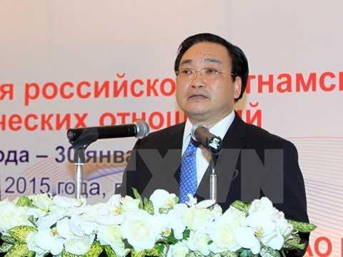 Phó Thủ tướng Hoàng Trung Hải đến dự và phát biểu. (Ảnh: An Đăng/TTXVN)
